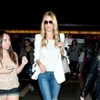 Rosie Huntington-Whiteley's Dotted Blazer and Torn Jeans