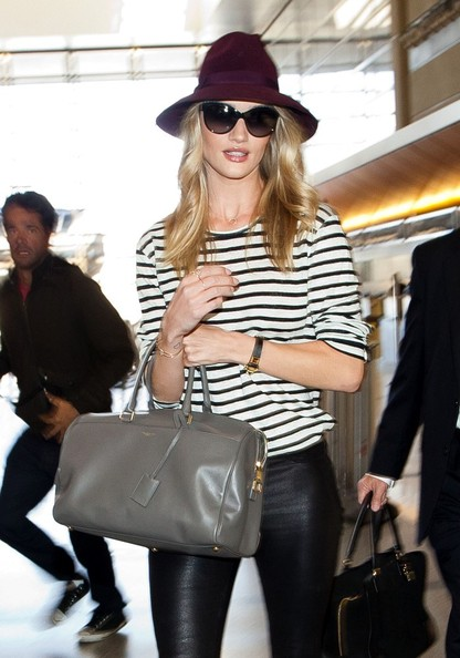 More Pics of Rosie Huntington-Whiteley Leather Pants (5 of 20) - Rosie Huntington-Whiteley Lookbook - StyleBistro