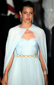 Charlotte Casiraghi was a vision in blue. She topped off the look with a chic glossy pout.
