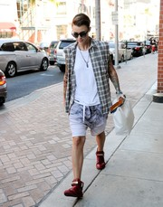 Ruby Rose was spotted out in Wild Love in Africa 07 sunglasses in black blue.