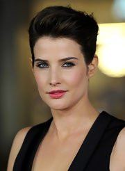 Cobie Smulders rocked a twisted bun with a teased pompadour crown for her look at the premiere of 'Safe Haven.'