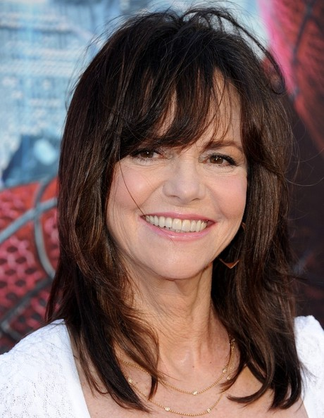 Sally Field Medium Straight Cut with Bangs