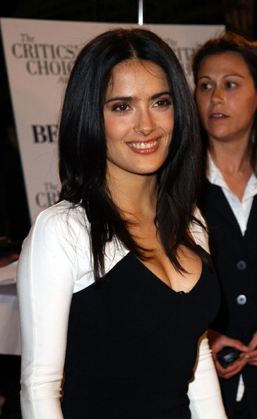 Salma Hayek Long Straight Cut