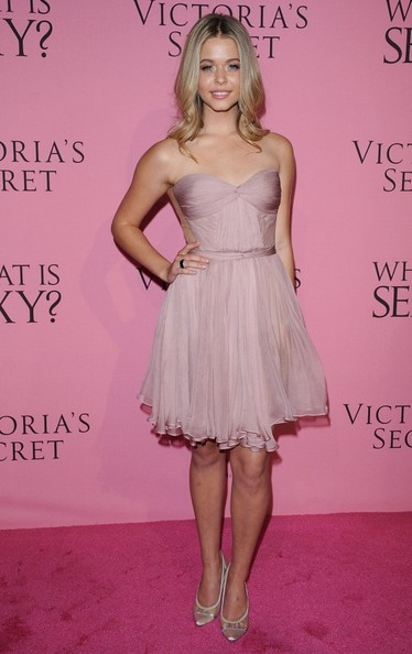 Sasha Pieterse Strapless Dress