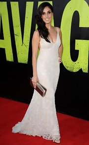 Sandra was a vision of sexy elegance in her stunning beaded gown at the Savages Premiere in LA.