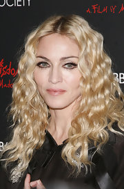 "Madonna went for a crimped look at the screening of ""Fifth and Wisdom"". It was a nice change from her normal straight look."