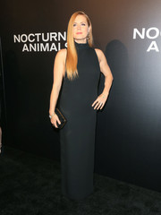 Amy Adams opted for a basic black turtleneck gown by Tom Ford when she attended the 'Nocturnal Animals' screening.
