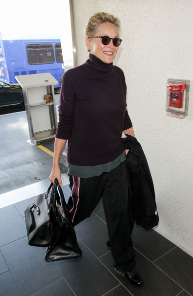 More Pics of Sharon Stone Leather Tote (1 of 5) - Tote Bags Lookbook - StyleBistro