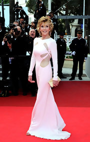Jane looked phenom at the Cannes Film Festival in a white evening gown with dramatic cutouts.