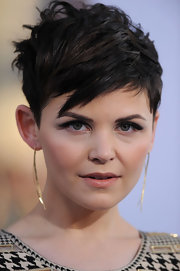 Ginnifer Goodwin used frosty gunmetal gray shadow to create her smoky-eyed look at the 'Something Borrowed' premiere.