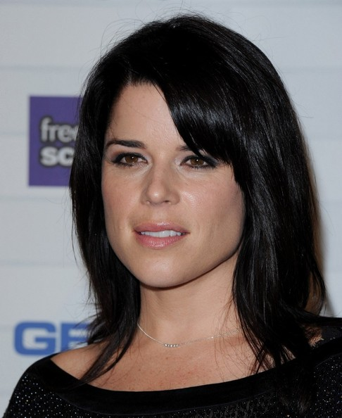 More Pics Of Neve Campbell Medium Straight Cut With Bangs
