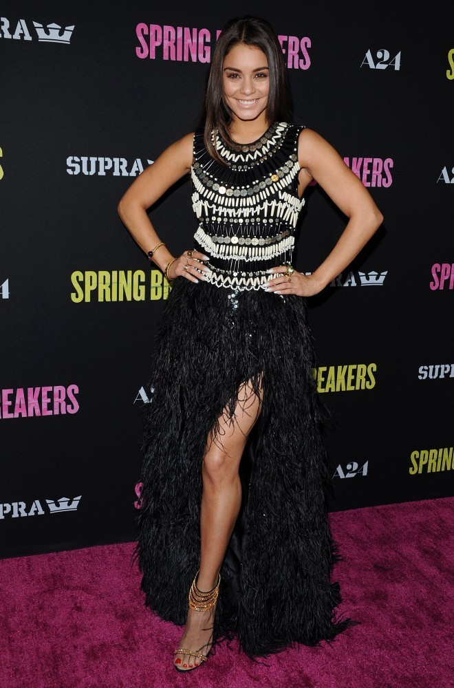 "Los Angeles Premiere of ""Spring Breakers""..ArcLight Theatre, Hollywood, CA..March 14, 2013..Job: 130314A2..(Photo by Axelle Woussen)..Pictured: Vanessa Hudgens."