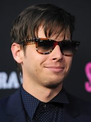 Mark Foster opted for classic wayfarers with a slight twist with these abstract print shades.