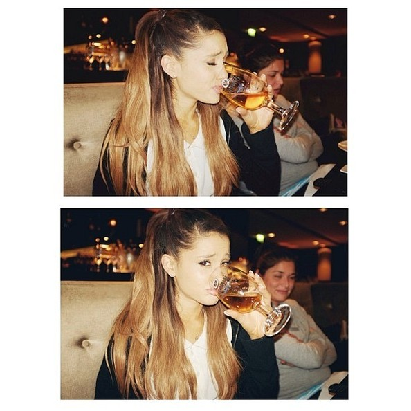 ariana grande doesnt enjoy her drink the weeks most