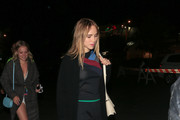 Suki Waterhouse Suede Loafers
