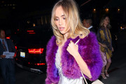 Suki Waterhouse Suede Shoulder Bag