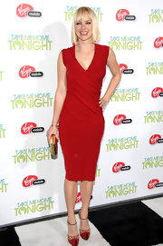 Anna went for a sultry look at the 'Take Me Home Tonight' premiere in a tight red cocktail dress.