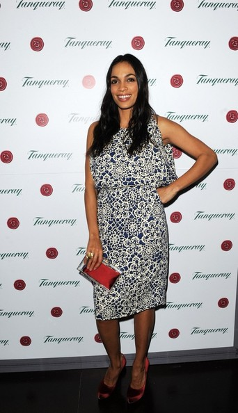 More Pics of Rosario Dawson Print Dress (1 of 20) - Print Dress Lookbook - StyleBistro