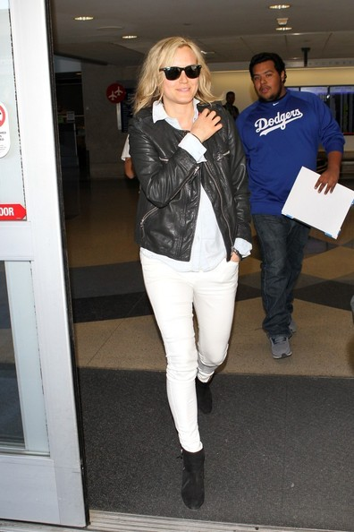 Taylor Schilling Leather Jacket []