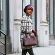 Taylor Swift's Plaid Coat and Red Booties