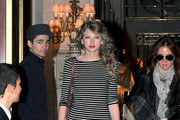 Taylor Swift leaves The Meurice hotel.