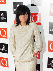 Hair chameleon Lily Allen, showed off a shaggy hairstyle while walking the red carpet at the 2009 Q Awards.