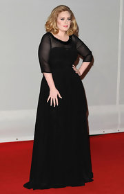 Adele wore this lovely black gown to the Brit Awards.