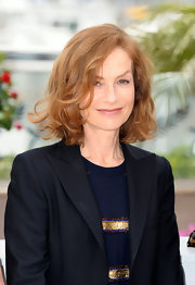 Isabelle Huppert looked super feminine at the Cannes Film Festival with her curled-out bob.