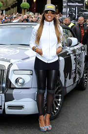 Eve's black-and-white checkered platform peep-toes were a super-cute finish to her outfit at the Gumball 3000 Rally.