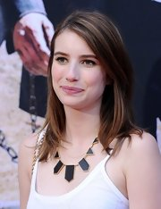 Emma Roberts topped off her dressed-down look with this simple straight 'do at the premiere of 'The Lone Ranger.'