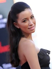 Christian Serratos looked dreamy with this half-up half-down 'do at the premiere of 'The Lone Ranger.'