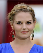 Jennifer Morrison wore her hair in pretty braided halo at the premiere of 'The Muppets.'