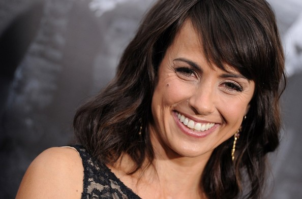 More Pics of Constance Zimmer Medium Wavy Cut with Bangs (3 of 10) - Constance Zimmer Lookbook - StyleBistro