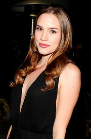 Christa B. Allen wore her long tresses with a few soft curls at The Ripple Effect Benefit.