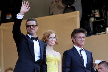 "Brad Pitt Jessica Chastain ""The Tree of Life"" premiere"