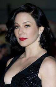 Lynn Collins attended the UK premiere of 'John Carter' wearing a sexy sweep of scarlet lipstick.