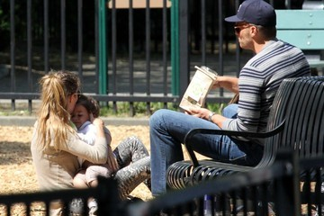 Tom Brady Benjamin Brady Gisele Bundchen and Family Visit the Park