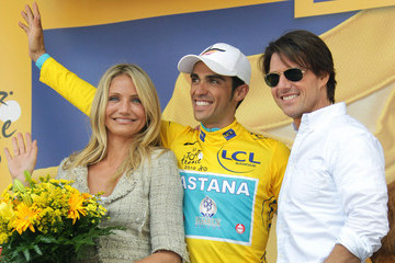 Tom Cruise Cameron Diaz Tom Cruise and Cameron Diaz at the Tour de France