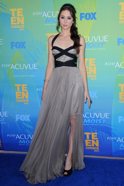 Troian Bellisario Halter Dress
