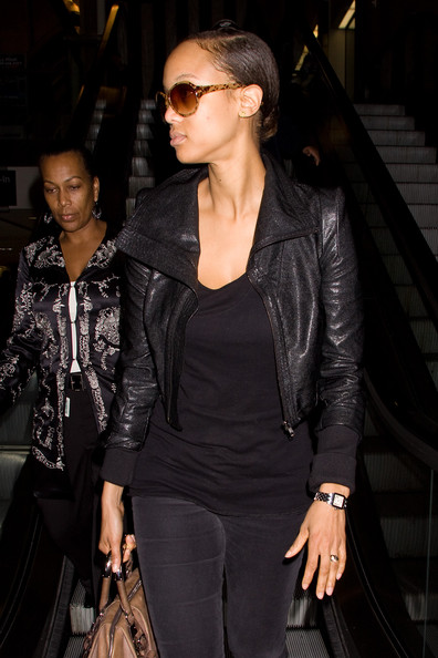 More Pics of Tyra Banks Leather Jacket (1 of 3) - Tyra Banks Lookbook - StyleBistro