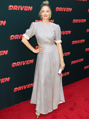 Judy Greer looked downright elegant in her silver Vika Gazinskaya gown at the premiere of 'Driven.'
