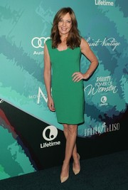 Allison Janney went for simple sophistication in a sleeveless green dress during the Variety Power of Women event.