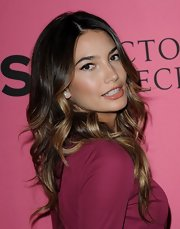 Lily Aldridge kept her tousled waves long and casual at the Victoria's Secret fashion show viewing party.