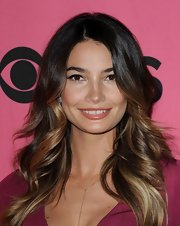 Lily Aldridge wore a delicious shiny caramel lipstick at the Victoria's Secret fashion show viewing party.