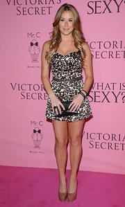 Alexa Vega looked saucy in this leopard corset dress for the Victoria's Secret 'What Is Sexy?' party.