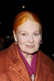 Vivienne Westwood kept it simple with a center-parted updo at the Woman of the Year Awards.
