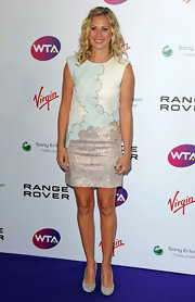 Holly Branson paired her pumps with a shimmering cocktail dress.