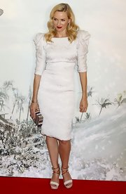 Naomi Watts' white platform sandals were a modern touch to the old-world glam of her dress.
