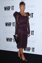 Eve matched her dress with a pair of black Christian Louboutin peep-toes at the premiere of 'Whip It.'