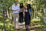 Prince William wore a pair of tan corduroys while walking through the Rangers Station in Canada.